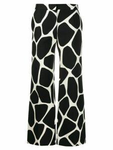 Valentino giraffe print palazzo trousers - Black
