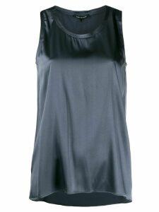 Luisa Cerano sleeveless flared top - Blue