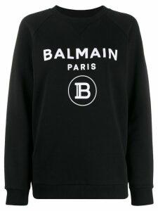 Balmain logo-print sweatshirt - Black