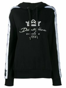 Dolce & Gabbana embroidered logo hoodie - Black