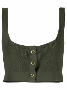 Dion Lee pinnacle pleat crop top - Green
