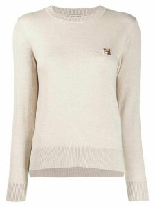 Maison Kitsuné crew-neck slim-fit jumper - NEUTRALS