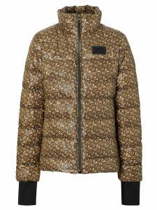 Burberry Monogram print puffer jacket - Brown