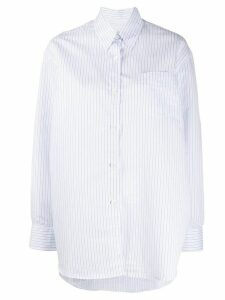 Our Legacy striped pointed collar shirt - White