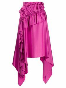 Christopher Kane asymmetric ruffle trim skirt - PINK