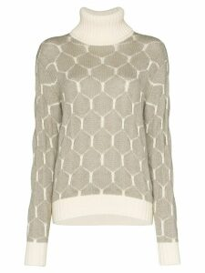 See by Chloé intarsia knit honeycomb jumper - NEUTRALS