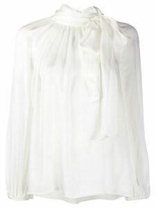 Zimmermann pussybow long-sleeve blouse - White