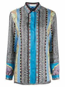 Etro long sleeve printed blouse - Blue