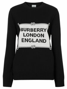 Burberry Rigging intarsia jumper - Black