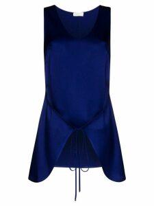 Rosetta Getty tie-front tabard blouse - Blue