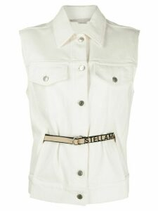 Stella McCartney sleeveless denim jacket - White
