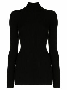 Wolford ribbed turtleneck jumper - Black