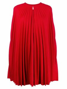 Valentino pleated light drape cape - Red