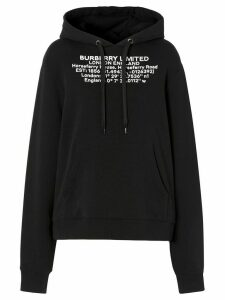 Burberry Location print oversized hoodie - Black