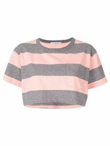T By Alexander Wang cropped striped T-shirt - PINK
