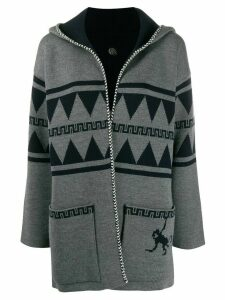 Alanui hooded open front cardigan - Grey
