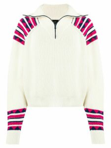 Alanui geometric-panel sweater - White