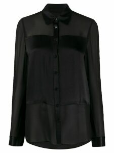 Michael Michael Kors satin-panel chiffon blouse - Black