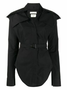 Bottega Veneta belted cotton shirt - Black