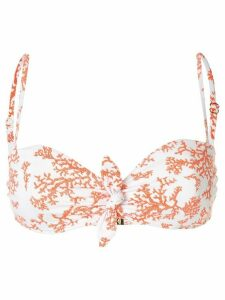 Heidi Klein graphic-print balcony top - ORANGE