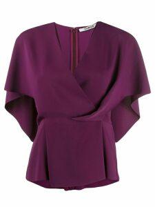 Chalayan draped cape top - PURPLE