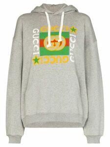 Gucci logo print hoodie - Grey