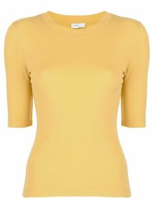 Rosetta Getty cropped sleeves T-shirt - Yellow