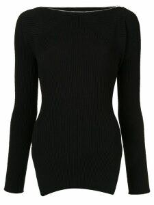 Alexander Wang ribbed zipped pullover - Black