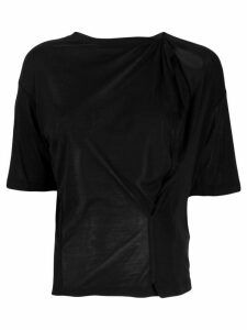 UNRAVEL PROJECT lightweight knitted T-shirt - Black