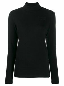 Maison Kitsuné turtleneck jersey top - Black
