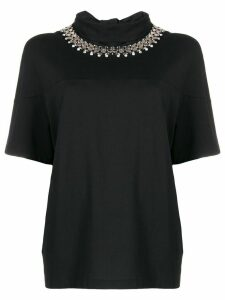 Christopher Kane chain tie neck blouse - Black