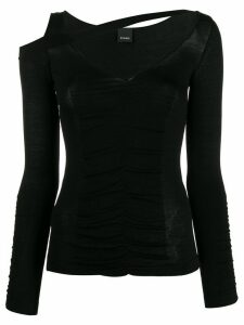 Pinko slim fit v-neck top - Black