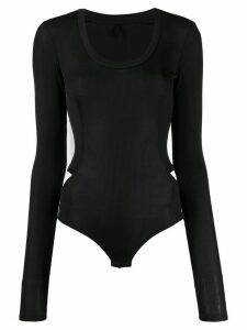 UNRAVEL PROJECT knitted long-sleeved leotard - Black