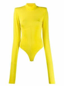 UNRAVEL PROJECT knitted leotard rollneck body - Yellow
