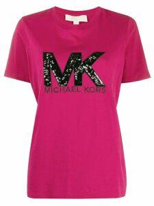 Michael Michael Kors sequin-logo T-shirt - PINK