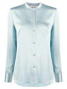 Vince mandarin collar slim fit shirt - Blue