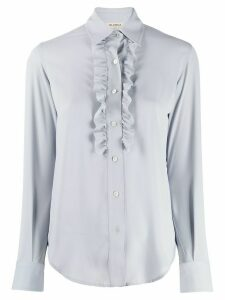 Blanca long-sleeved ruffled shirt - Blue