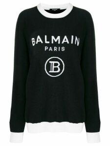 Balmain intarsia-knit logo jumper - Black