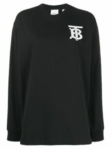 Burberry Monogram print sweatshirt - Black
