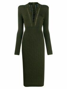 Balmain knitted dress - Green
