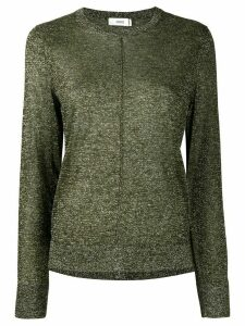 Closed glitter-effect fitted jumper - Green