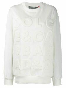 Dolce & Gabbana debossed logo sweatshirt - White
