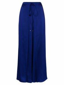 Rosetta Getty tie-waist wide-leg trousers - Blue