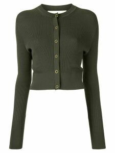 Dion Lee pinnacle pleat cardigan - Green