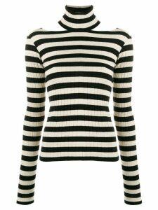 8pm striped roll-neck top - Neutrals