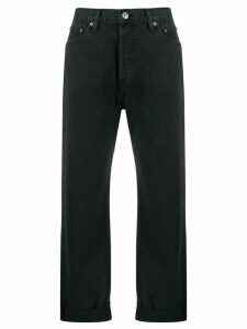 RE/DONE high rise straight-leg jeans - Black