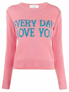 Alberta Ferretti Everyday I Love You jumper - PINK