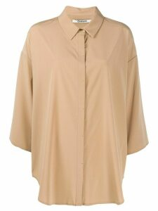 Chalayan oversized cropped sleeves shirt - NEUTRALS