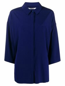 Chalayan oversized batwing-sleeve shirt - Blue