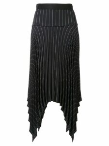 Dion Lee pinstriped pleated skirt - Black
